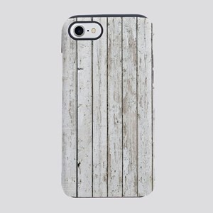 shabby chic white barn wood iPhone 7 Tough Case