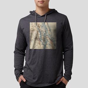 Vintage Map of St. Augustine Flo Mens Hooded Shirt