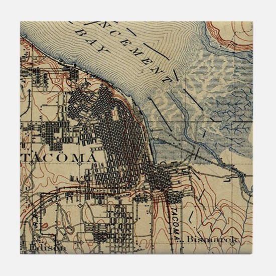 Cute Tacoma washington Tile Coaster