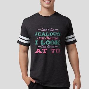 70th Birthday For Women Mens Football Shirt