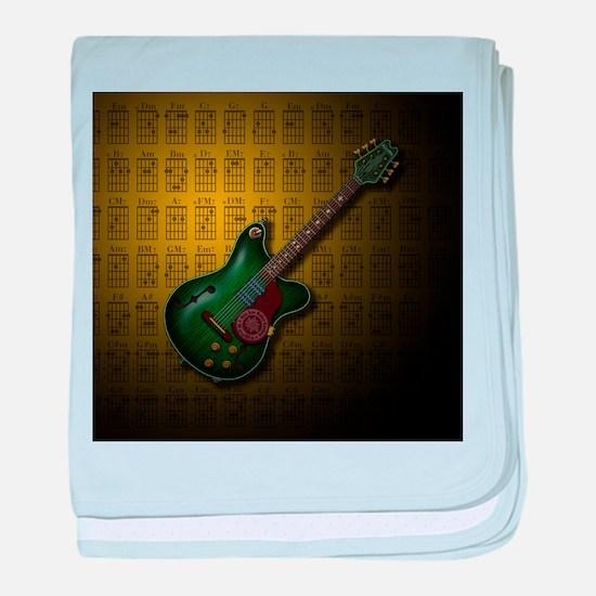 KuuMa Guitar 09 (Y) baby blanket