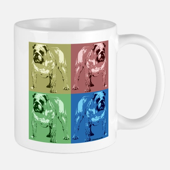 4 Tone Bulldog Design Mug