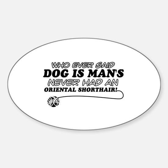 Oriental Shorthair Cat Designs Sticker (Oval)
