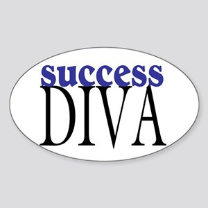Success Diva Oval Sticker