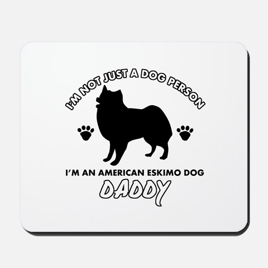 American Eskimo Dog Daddy designs Mousepad