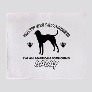 American Foxhound Daddy designs Throw Blanket