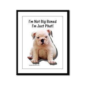 """""""Big Boned"""" Design Framed Panel Print"""