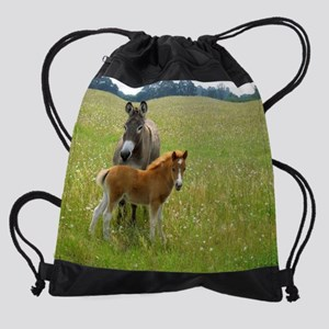 All Friends in this Field of Daisie Drawstring Bag