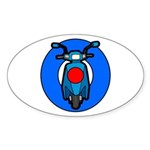 Scooter Target Oval Sticker