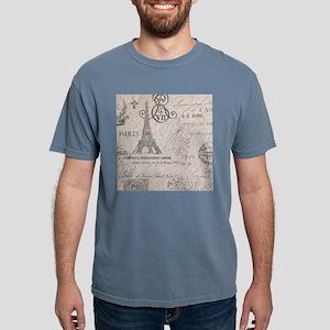 french scripts paris eif Mens Comfort Colors Shirt