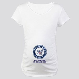 US Navy Symbol Personalized Maternity T-Shirt