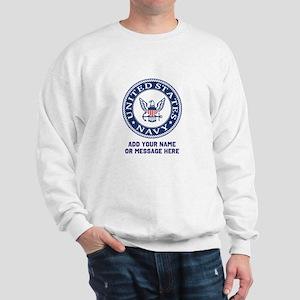 US Navy Symbol Personalized Sweatshirt