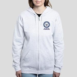 US Navy Symbol Personalized Women's Zip Hoodie