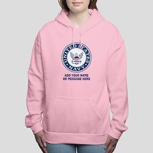US Navy Symbol Personali Women's Hooded Sweatshirt