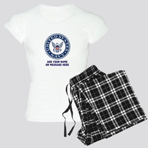 US Navy Symbol Personalized Women's Light Pajamas