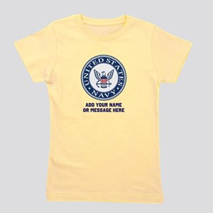 US Navy Symbol Personalized Girl's Tee