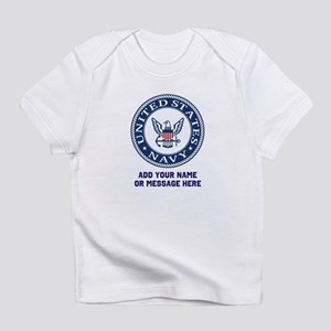 US Navy Symbol Personalized Infant T-Shirt
