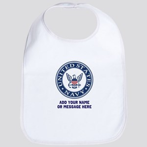 US Navy Symbol Personalized Cotton Baby Bib