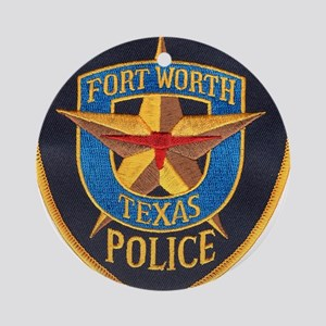Fort Worth Police Ornament (Round)