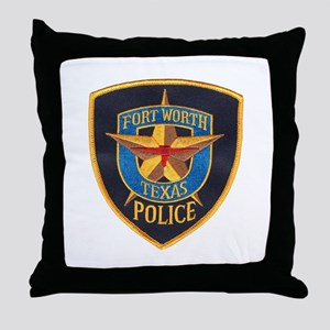 Fort Worth Police Throw Pillow