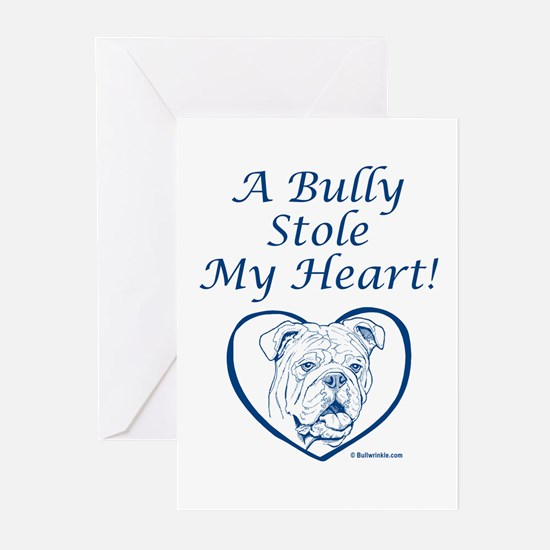 """""""My Heart"""" Blue Greeting Cards (Pk of 10)"""