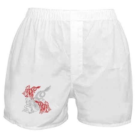 Chinese Red Dragons Boxer Shorts