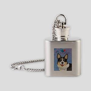 Cardigan Welsh Corgi Flask Necklace