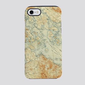 Vintage Map of Lake Winnipesau iPhone 7 Tough Case
