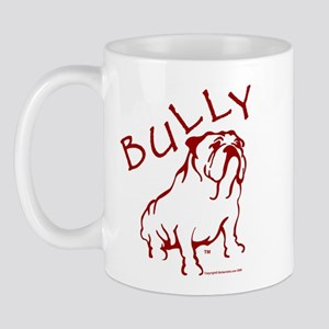 Bully Bulldog Logo Red Mug