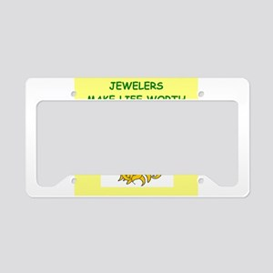JEWELERS License Plate Holder