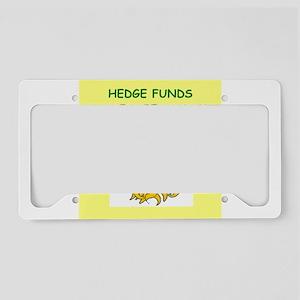 hedge fund License Plate Holder