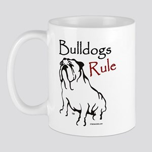 Bulldogs Rule Black Mug