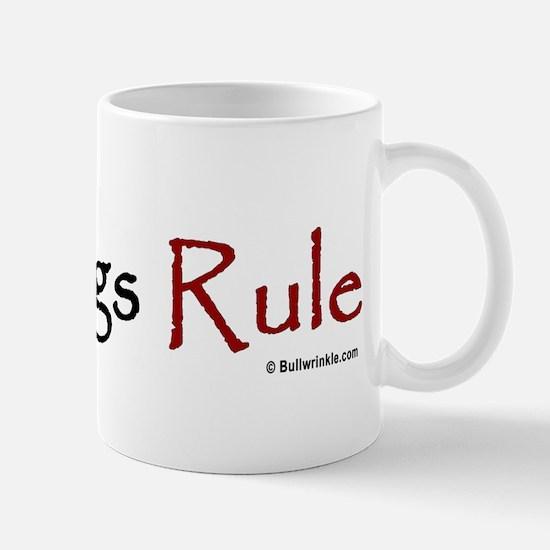 """""""Bulldogs Rule"""" Red Mug"""