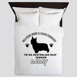 Australian Silky Terrier Daddy designs Queen Duvet