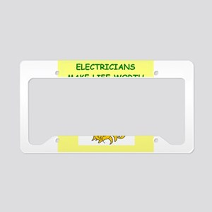 electrician License Plate Holder