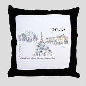 paris (wide) Throw Pillow