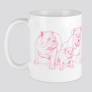 Bulldog Family Pink Mug