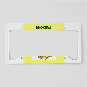 broker License Plate Holder