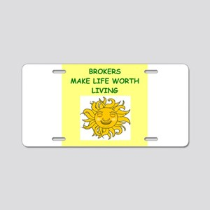broker Aluminum License Plate