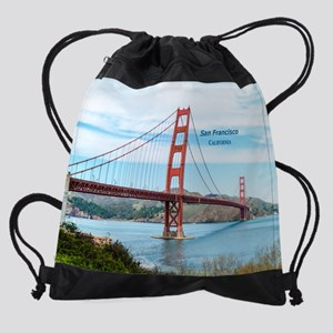 SF_CA_112x96_GoldenGateBridge_FortP Drawstring Bag