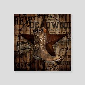 western cowboy Sticker