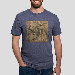 Vintage Map of Colorado Spr Mens Tri-blend T-Shirt