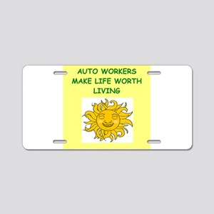 auto workers Aluminum License Plate