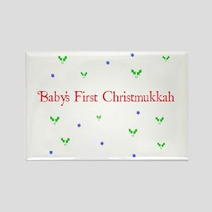 Babys First Christmukkah Rectangle Magnet