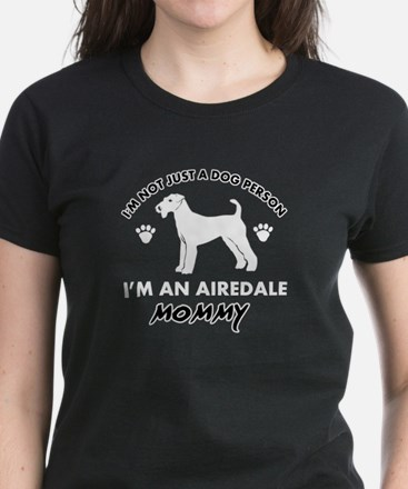 Airedale Mommy designs Women's Dark T-Shirt