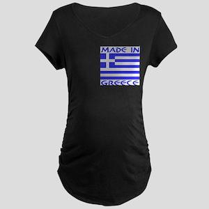 Made in Greece Upper Left Maternity Dark T-Shirt