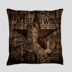 western cowboy Everyday Pillow