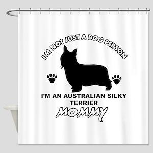 Australian Silky Terrier Mommy designs Shower Curt