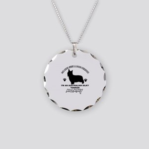 Australian Silky Terrier Mommy designs Necklace Ci