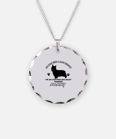 Australian Silky Terrier Mommy designs Necklace